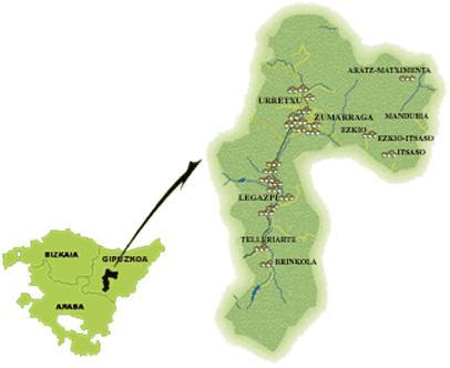 La comarca Urola garaia esta compuesta por Ezkio-itsaso, Legazpi, urretxu y zumarraga